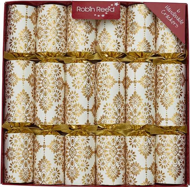 Picture of Christmas Crackers - 6 Designer Christmas Crackers - All That Glitters