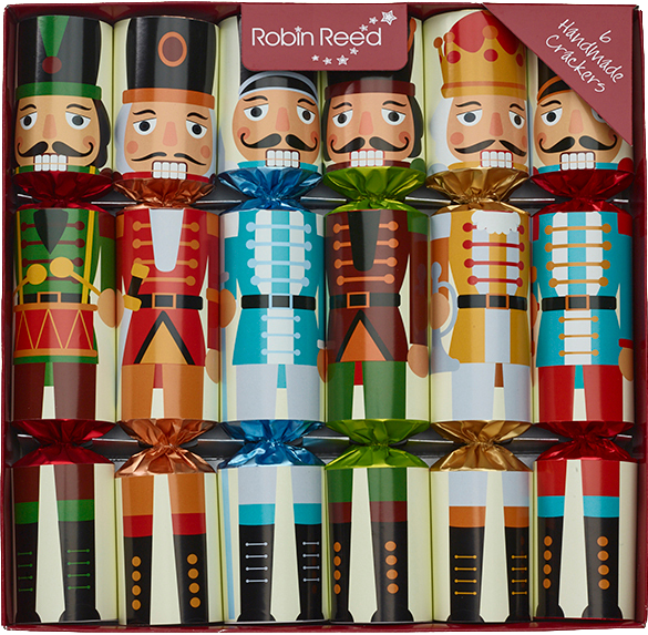 Picture of Christmas Crackers - 6 Classic Christmas Crackers - Nutcracker