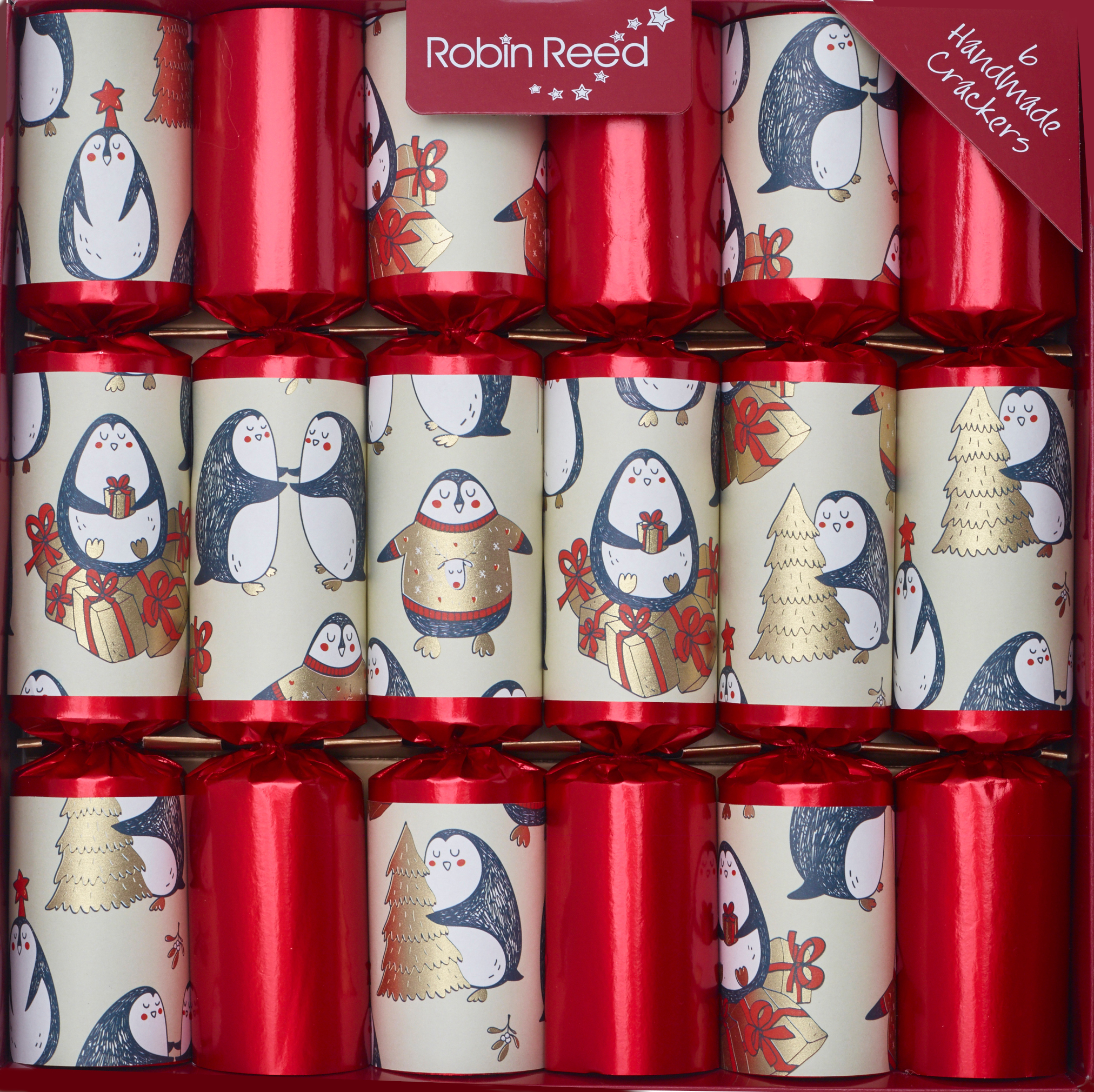 Picture of Christmas Crackers - 6 Christmas Crackers for Children - Penguin Party