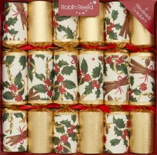 Picture of Christmas Crackers - 6 Classic Christmas Crackers - Cinnamon Swirl